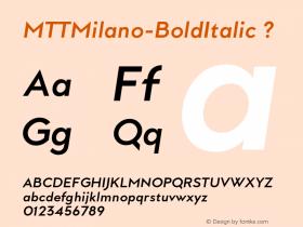 MTTMilano-BoldItalic
