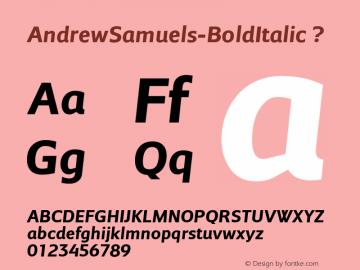 AndrewSamuels-BoldItalic