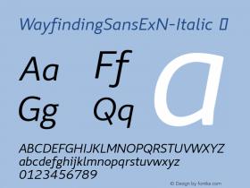 WayfindingSansExN-Italic