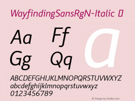 WayfindingSansRgN-Italic