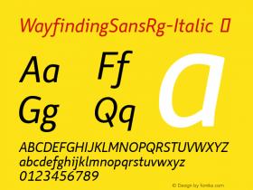 WayfindingSansRg-Italic