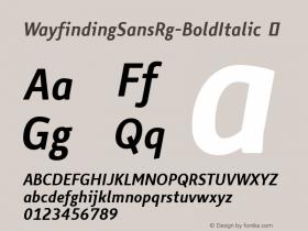 WayfindingSansRg-BoldItalic