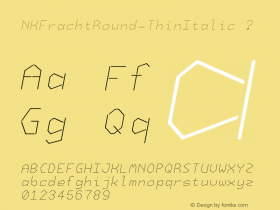 NKFrachtRound-ThinItalic