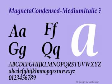 MagnetaCondensed-MediumItalic
