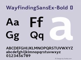 WayfindingSansEx-Bold