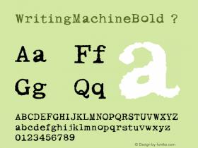 WritingMachineBold