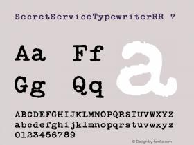 SecretServiceTypewriterRR
