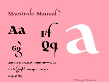 Maestrale-Manual