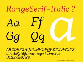 RangeSerif-Italic