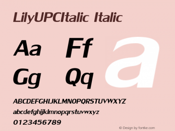 LilyUPCItalic