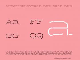 WideDisplayBold3DUp