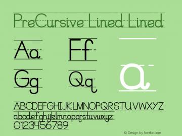 PreCursive Lined
