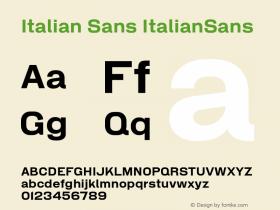 Italian Sans