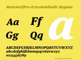 MetaSerifPro-ExtraboldItalic