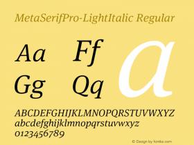 MetaSerifPro-LightItalic