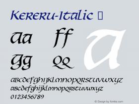 Kereru-Italic