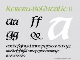 Kereru-BoldItalic