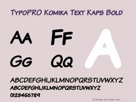 TypoPRO Komika Text Kaps