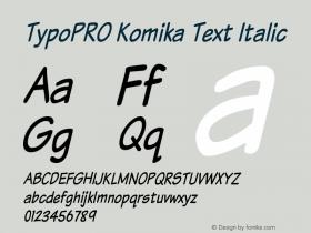 TypoPRO Komika Text
