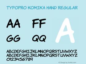 TypoPRO Komika Hand