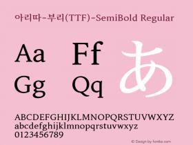 아리따부리(TTF)SemiBold