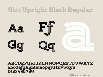 Gist Upright Black