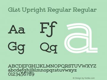 Gist Upright Regular