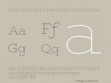 Gist Upright Line Regular