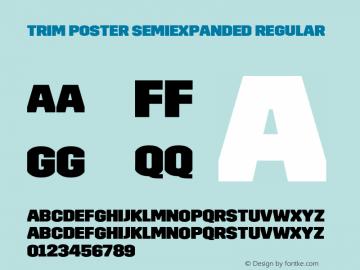 Trim Poster SemiExpanded