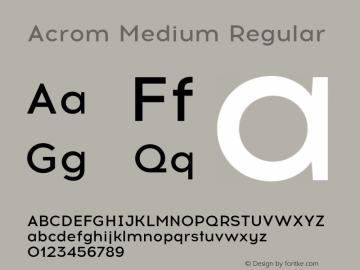 Acrom Medium