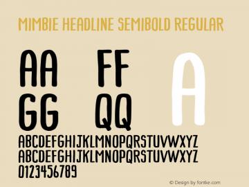 Mimbie Headline SemiBold