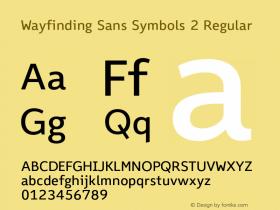 Wayfinding Sans Symbols 2