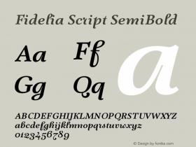 Fidelia Script