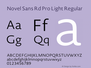 Novel Sans Rd Pro Light