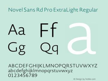 Novel Sans Rd Pro ExtraLight
