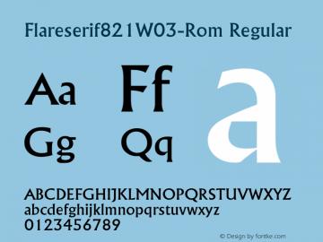 Flareserif821-Rom