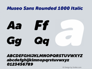 Museo Sans Rounded