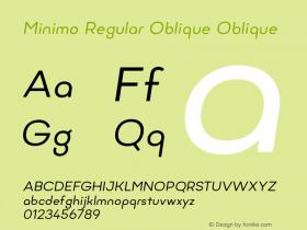 Minimo Regular Oblique