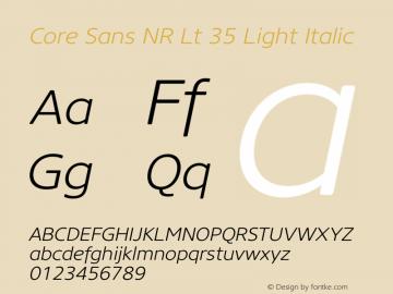 CoreSansBR25Light-Italic-Font Family Search-Fontke com For