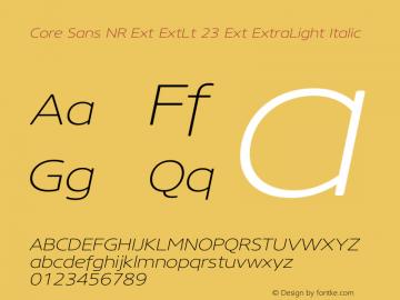 Core Sans NR Ext ExtLt