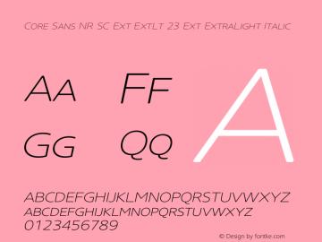 Core Sans NR SC Ext ExtLt