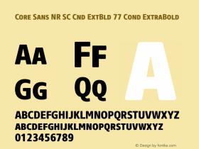 Core Sans NR SC Cnd ExtBld