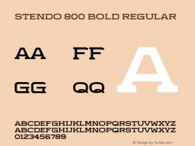 Stendo 800 Bold