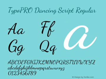 TypoPRO Dancing Script