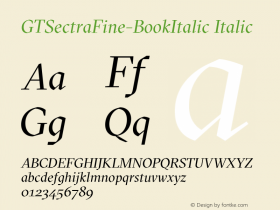 GTSectraFine-BookItalic