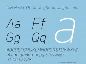 DIN Next CYR UltraLight