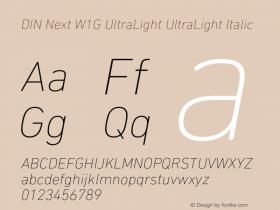 DIN Next W1G UltraLight