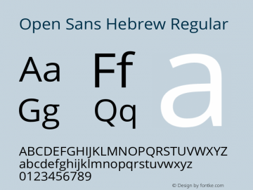 Open Sans Hebrew
