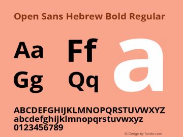 Open Sans Hebrew Bold