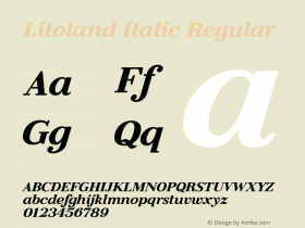 Litoland Italic